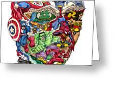 Heroic Mind Greeting Card by John Ashton Golden