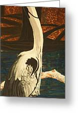 Heron In The Smokies Greeting Card by BJ Hilton Hitchcock