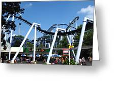 Hershey Park - Great Bear Roller Coaster - 121210 Greeting Card by DC Photographer