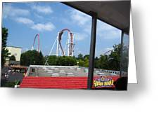 Hershey Park - Great Bear Roller Coaster - 12122 Greeting Card by DC Photographer