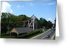 Hershey Park - Great Bear Roller Coaster - 12124 Greeting Card by DC Photographer