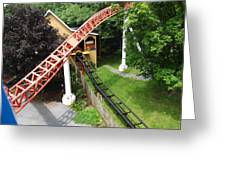 Hershey Park - Storm Runner Roller Coaster - 12121 Greeting Card by DC Photographer
