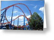 Hershey Park - Storm Runner Roller Coaster - 12125 Greeting Card by DC Photographer