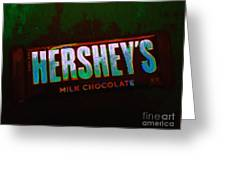 Hershey's Chocolate Bar Greeting Card by Wingsdomain Art and Photography