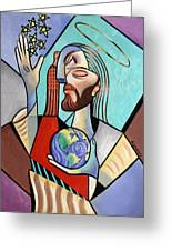 Hes Got The Whole World In His Hand Greeting Card by Anthony Falbo