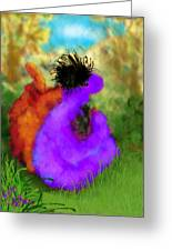 He's Mine Greeting Card by Mary Eichert