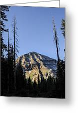 Hesperus Mountain Greeting Card by Aaron Spong