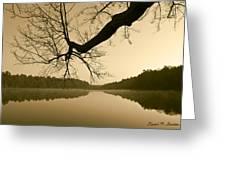 Hewitt Pond Greeting Card by David Gordon