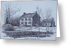 Hezekiah Alexander House Etching Greeting Card by Charles Roy Smith