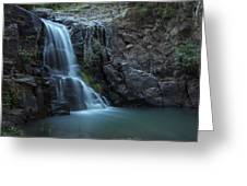Hiawatha Falls Greeting Card by Aaron S Bedell