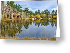 Hiawatha Lake Panorama Greeting Card by Baywest Imaging