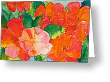 Hibiscus Flowers Greeting Card by Michelle Wiarda