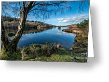 Hidden Lake Greeting Card by Adrian Evans