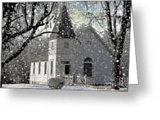 Higgensville Church Greeting Card by Liane Wright