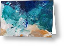 High As A Mountain- Contemporary Abstract Painting Greeting Card by Linda Woods