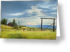High Country Farm Greeting Card by Theresa Tahara