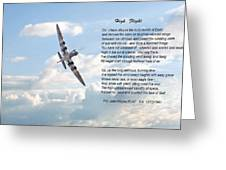 High Flight Greeting Card by Pat Speirs