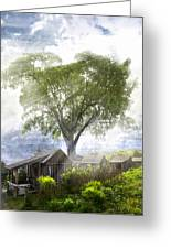 High In The Clouds Greeting Card by Debra and Dave Vanderlaan