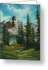 High Meadow Greeting Card by C Steele
