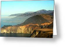 Highway One Bixby Bridge Watercolor Greeting Card by Barbara Snyder