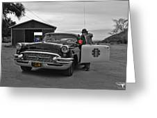 Highway Patrol 5 Greeting Card by Tommy Anderson