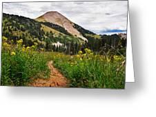 Hiking In La Sal Greeting Card by Adam Romanowicz