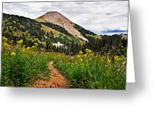 Hiking In La Sal Greeting Card by Adam Romanowicz