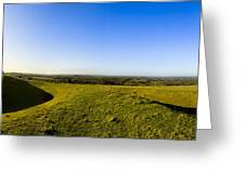 Hill Of Tara - Landscape Panorama Greeting Card by Mark Tisdale