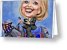 Hillary Clinton 2016 Greeting Card by Mark Tavares