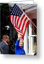 Hillary Clinton Greeting Card by Ed Weidman
