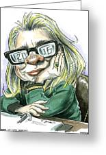 Hillaryvision Greeting Card by Taylor Jones