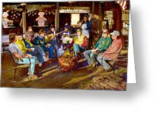 Hillbilly Happy Hour Greeting Card by Anne Goetze