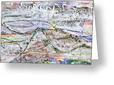 Hills And Fog Close Crop Version Greeting Card by Regina Valluzzi