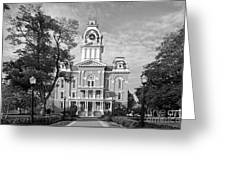 Hillsdale College Central Hall Greeting Card by University Icons