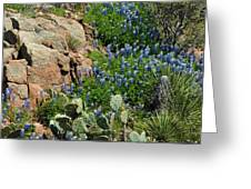 Hillside Blue Greeting Card by Robert Anschutz