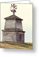 Hilltop Windmill Greeting Card by Richard Bean