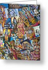 Hindu Deity Posters Greeting Card by Tim Gainey