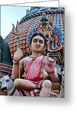 Hindu Goddess At Colorful Temple Greeting Card by Imran Ahmed