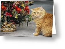 His Majesty Greeting Card by Kenny Francis