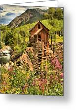 Historic Crystal Colorado Greeting Card by Adam Jewell