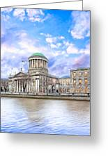 Historic Four Courts In Dublin Ireland Greeting Card by Mark Tisdale