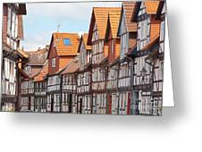 Historic Houses In Germany Greeting Card by Heiko Koehrer-Wagner