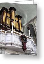 Historic Organ Greeting Card by John Rizzuto