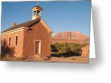 Historic Schoolhouse Grafton Ghost Town Rockville Utah Greeting Card by Robert Ford