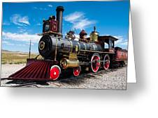 Historic Steam Locomotive - Promontory Point Greeting Card by Gary Whitton