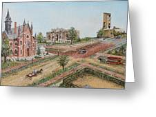 Historic Street - Lawrence Kansas Greeting Card by Mary Ellen Anderson