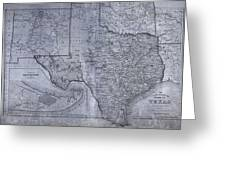 Historic Texas Map Greeting Card by Dan Sproul