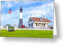 Historic Tybee Island Light Station Greeting Card by Mark E Tisdale