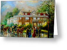 Historical Architecture Indiana Baker House Mansion  Greeting Card by Gina Femrite