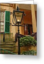 Historical Gas Light Greeting Card by Patrick Shupert